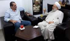 الشيخ حمود التقى العميد الحسن ونوه بدور القوى الأمنية بحفظ الأمن في صيدا