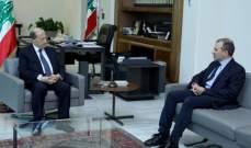 """عون التقى رئيس تكتّل """"لبنان القوي"""" النائب جبران باسيل"""