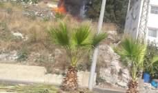 حريق بين بلدتي معركة وجناتا وآخر في خراج بلدة المصيلح