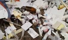 مطر: ضبط شاحنتين محملتين بكمية من النفايات الطبية داخل معمل فرز الكفور