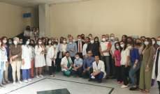 وقفة تضامنية مع نقابتي الأطباء والمستشفيات في مستشفى تل شيحا