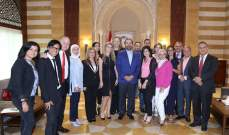 الحريري التقى سفيرة لبنان بالأمم المتحدة واستقبل الحراك العلوي ورئيس نادي الأنصار