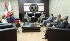 قائد الجيش بحث مع كوبتش وريتشارد بالأوضاع العامة في لبنان والمنطقة