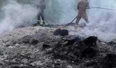 الدفاع المدني: إخماد حريق أكوام من النفايات وأشجار من السنديان في جون