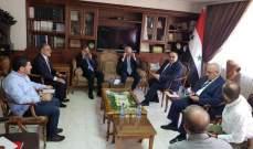 زعيتر التقى نظيره السوري ووزير التموين والتجارة الداخلية وحماية المستهلك في سوريا