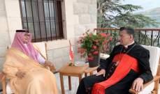 الراعي استقبل وفد تكتل الجمهورية القوية والسفير السعودي في لبنان