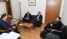 كنعان بعد لقاء وفد البنك الدولي: اقرار موازنة ٢٠٢٠ معدلة اشارة ايجابية