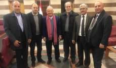 حمادة يلتقي وفدا من رابطة معلمي التعليم الأساسي الرسمي في لبنان