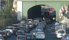 تصادم بين مركبتين محلة نفق نهر الكلب- جونية و حركة المرور كثيفة