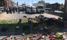 النشرة: القوى الأمنية فتحت طريق عام أبلح- الفرزل بعد قطعها من قبل عدد من المزارعين