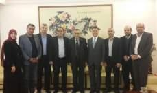 وفد حركة امل التقى السفير الصيني وتأكيد  على مواجههة السياسات العدوانية