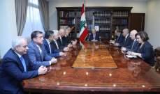 الاتحاد العمالي سلّم مذكرة إلى عون: للإسراع بالتكليف والتأليف ونرفض قطع الطرق