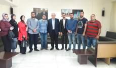 الجسر التقى وفدا من مياومي الضمان في طرابلس ووعد بمتابعة مطالبهم