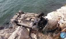 جريح نتيجة انقلاب مركبة على الطريق البحرية في القلمون باتجاه طرابلس