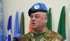 رئيس بعثة اليونيفيل: يجب أن تحترم جميع القوى دورنا بالارتباط والتنسيق أكثر من أي وقت مضى