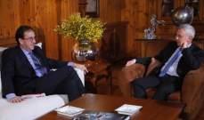 فرنجيه استقبل سفيري فرنسا والأرجنتين وبحث معهما التطورات المحلية