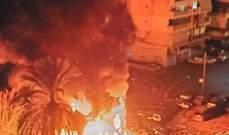 حريق في بورة اطارات مستعملة بطرابلس