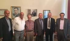 السيد حسين زار قانصوه وبحث معه أوضاع الجامعة اللبنانية