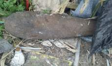 تفجير قذيفة من مخلفات الحرب في ريمات جزين