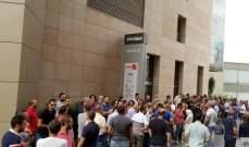 موظفو شركة ألفا يعتصمون احتجاجاً على المماطلة بإقرار حقوقهم المكتسبة