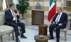 الرئيس عون عرض مع ناجي البستاني للتطورات السياسية في البلاد