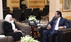 الحريري استقبل بهية الحريري والمقدم ووفد الاتحاد العمالي