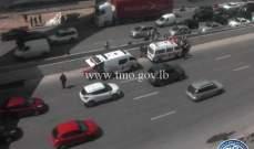 قتيل بحادث صدم على أوتوستراد جل الديب- المسلك الشرقي وحركة المرور كثيفة
