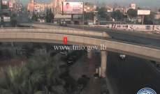 جريح نتيجة تصادم بين شاحنة ودراجة نارية على اول محول نهر الموت الشرقي