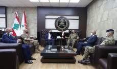 قائد الجيش التقى وفدا من مجلس الشيوخ الفرنسي وسفير بريطانيا والملحق العسكري الهولندي