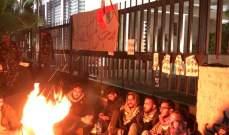 النشرة: محتجون اعتصموا امام فرع مصرف لبنان في صيدا