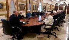 فهمي التقى وفدا من علماء بيروت ورؤساء روابط مخاتير