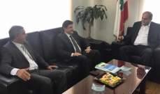 وزير البيئة التقى علي عسيران ورئيس مركز IPT للطاقة