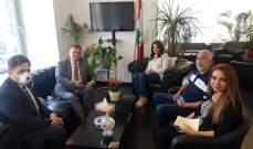 شريم التقت سفير بلغاريا وعرضت معه الاوضاع العامة