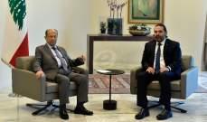قريبون من عون للجمهورية: لا يزال يعطي الأفضلية لمواصلة الشراكة مع الحريري