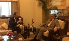 تقي الدين زار السفير السوري وبحث معه التطورات المحلية والاقليمية