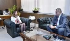 عبد الصمد بحثت مع كوبيتش بشؤون عامة ومشاريع وزارة الإعلام للنهوض بالقطاع