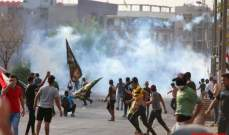 أكثر من 60 عربة عسكرية اقتحمت ساحة الاعتصام في البصرة وأحرقت خيام المعتصمين