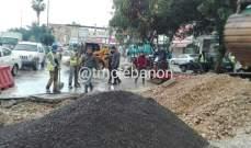التحكم المروري: أشغال قرب محطة الجنوب للمحروقات في الأوزاعي باتجاه بيروت