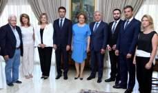 بلدية بيروت سلمت هبة مالية لمستشفى الكرنتينا تحت رعاية السيدة الأولى