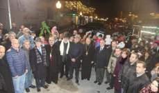 رئيس بلدية زحلة خلال افتتاح القرية الميلادية: هدفنا إدخال الفرحة لقلوب الناس