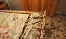 انهيار منزل في منطقة المهاترة طرابلس