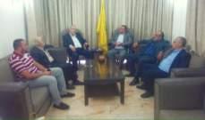 لجنة أصدقاء سكاف زارت مقر المجلس السياسي لحزب الله