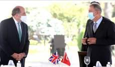 وزير الدفاع التركي بحث مع نظيره البريطاني بالتعاون في مجال الصناعات الدفاعية