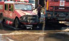 الدفاع المدني أخمد حريقاً داخل مستودع خاص بأحد الأفران في الدامور