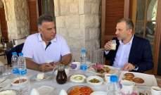 الجديد: وفيق صفا حضر العشاء الذي جمع اللواء ابراهيم بالوزير باسيل