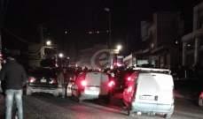 النشرة: قطع طريق ضهر البيدر عند مفرق مكسة وزحمة سير خانقة