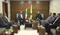 """وفد من حركة حماس في لبنان زار قيادة """"حزب الله"""" في منطقة الجنوب الأولى"""