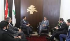 الجميل التقى رئيس دائرة أفريقيا والشرق الأوسط في الخارجية الفرنسية
