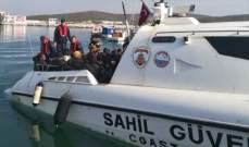 خفر السواحل التركي ضبط 147 مهاجرا غربي البلاد خلال محاولتهم التسلل إلى اليونان