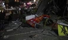 القوى الأمنية أزالت الأكشاك المخالفة في موقف حي السلم وأصحابها يشعلون الاطارات احتجاجا